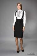 Стильный офисный сарафан Emka Fashion | 132-katrin