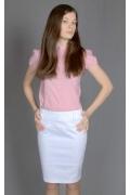 Белая юбка-карандаш | 214-55elis