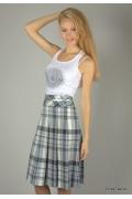 Клетчатая юбка с завышенной талией | 219-65soli3