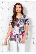 Симпатичная блузка с коротким рукавом | 4638