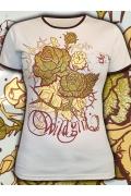 Женская футболка с блёстками Wild Girl