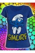 Синяя женская футболка Смёрф