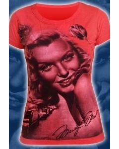 """Яркая красная футболка """"Marilyn Monro"""""""