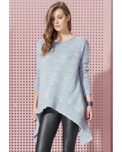 Асимметричный удлиненный свитер Zaps Folami