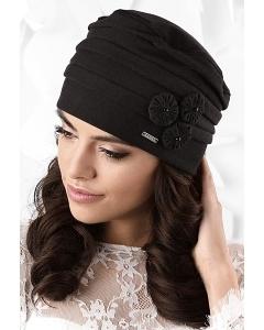 Хлопковая шапка чёрного цвета Kamea Latina