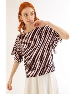 Летняя блузка с принтом Emka B2305/tentacion