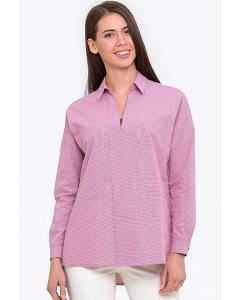 Летняя блузка из хлопка с рубашечным воротником Emka b 2222/rabi