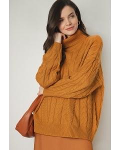 Бежевый свитер плотной Emka B2589/stain