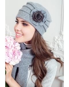 Комплект (шапка + шарф) серого цвета Landre Аэлита