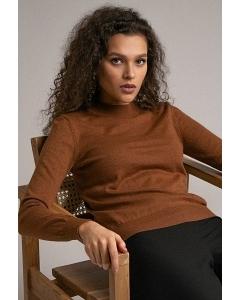 Трикотажный джемпер коричневого цвета Emka B2494/soprano