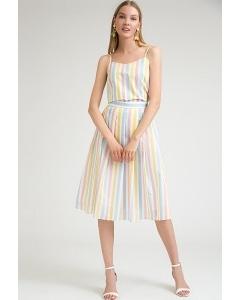 Летняя юбка в цветную полоску Emka S825/yankee