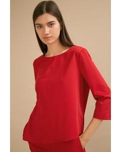 Красная блузка с асимметричным низом Emka B2387/kadu