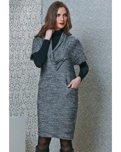 Осеннее платье серого цвета TopDesign B4 134