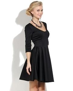 Черное коктейльное платье DSP-140-4t