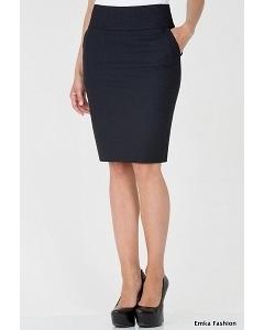 Простая юбка чёрного цвета Emka Fashion 212-brianna