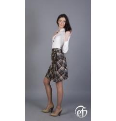 Элегантная юбка в клетку Emka fashion