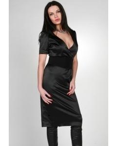 Черное атласное платье Chertina & Durre