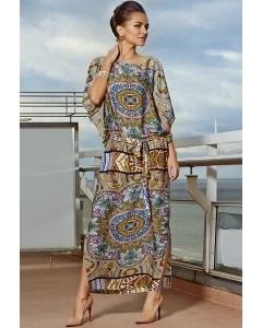 Длинное летнее платье TopDesign Premium PA4 07