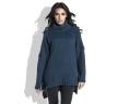 Свободный женский свитер тёмно-синего цвета купить в интернет-магазине недорого Fobya F455