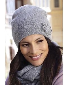 Женская двойная шапка из меланжевой пряжи Kamea Kansas