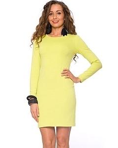 Короткое лаймовое платье   DSP-65-32t