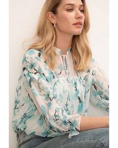 Блузка А-силуэта Emka B2613/gladiolus