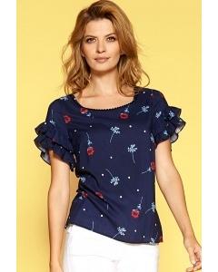 Синяя блузка с оборками Zaps Hulda
