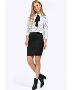 Чёрная офисная юбка выше колена Emka S766/djolin