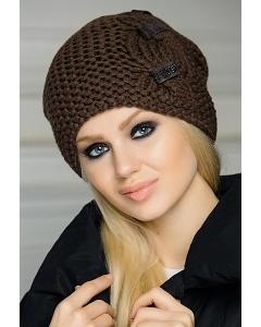 Женская шапка коричневого цвета SuperShapka Charm
