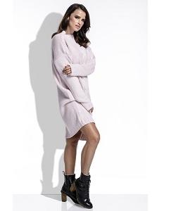Розовое вязанное платье оверсайз Fimfi I215