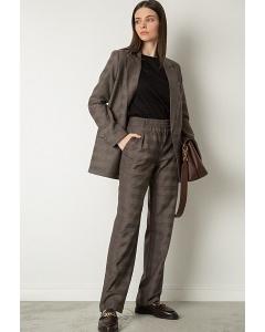 Прямые брюки с клетчатым принтом Emka D178/rolando
