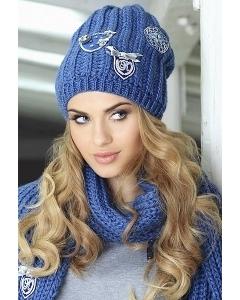 Комплект шапка с помпоном и шарф Kamea Bozena