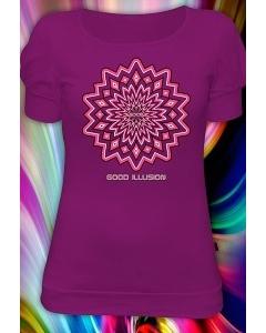 Женская футболка Illusion (Рисунок движется! Светится в темноте и уф.)