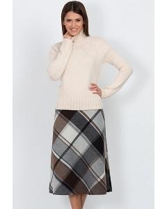 Тёплая шерстяная юбка Emka Fashion 412-agnessa