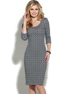 Чёрно-белое платье Donna Saggia DSP-131-79t