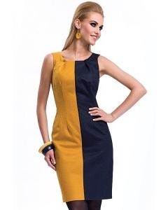 Желто-синее платье Zaps Lorena