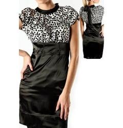 Стильное атласное платье Golub