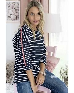 Женская хлопковая блуза в полоску M.Hajdan BL1103