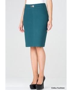 Бирюзовая юбка-карандаш Emka Fashion 442-edita