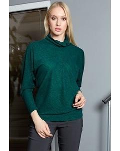 Женский джемпер зелёного цвета TopDesign B9020