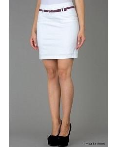 Короткая юбка белого цвета Emka Fashion 453-maisa