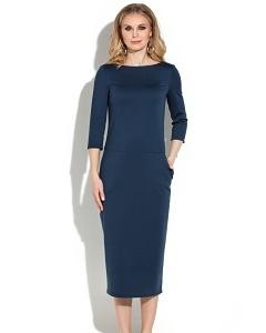 Тёмно-синее платье миди Donna Saggia DSP-267-41t