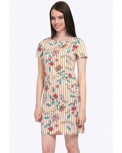 Короткое платье в яркую полоску Emka PL522/shaggy
