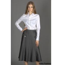 Длинная серая юбка Emka Fashion
