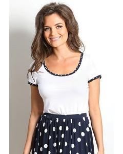 Белая женская блузка TopDeign A7 049