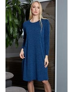 Синее трикотажное платье TopDesign B9 024