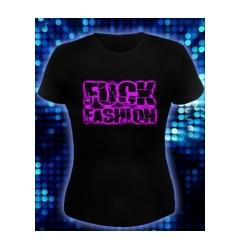 Женская футболка Fuck Fashion (Светится в ультрафиолете)