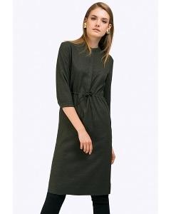 Платье-миди из вискозы с рукавами 3/4 Emka PL665/rahel