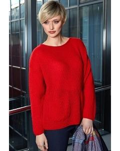 Красный свитер из шерсти мериноса Flaibach 018W9