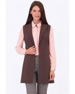 Женский длинный жилет Emka Fashion GL-013/prada